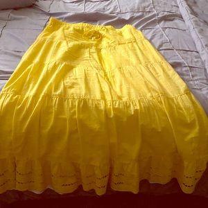Yellow long skirt